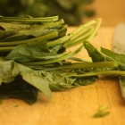 Recipe Roulette: Frittered Greens baked with sauce