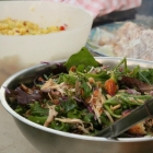 Thai style BBQ chicken salad