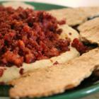 Delicious dip & FAB homemade crispbread