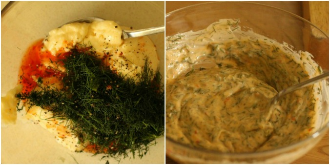 Salmon sauce Collage