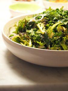 Pea, mint & fetta salad