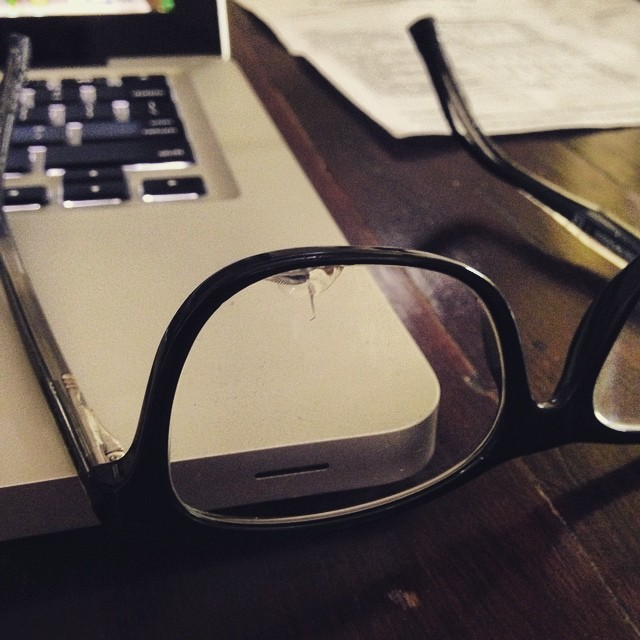 Frank has expensive taste...my glasses got destroyed a few weeks back by my friend chewing the sides, cracking the lense and scratching both. Today I remembered I opted in for insurance through OPSM and now I get new ones. A happy ending!